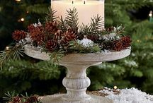Candle displays xmas