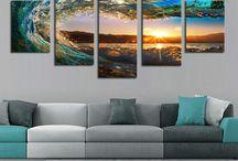 Wall Canvas Decor / canvas ideas, canvas painting, canvas art, canvas painting ideas, wall decor, wall decor ideas, wall decor living room #walldecor #canvasart