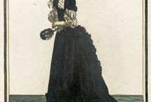 17thC fashion plates (Women) / Clothes