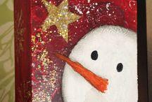 snømannmaleri