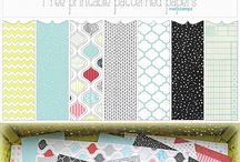 Vintage and patterned paper