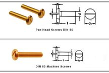 Brass Machine Screws / Machine screws have machine threads for use with a nut or in a tapped hole. Also referred to as a stove bolt. A straight shank fastener designed to bind metal to metal by going through a hole or opening that is pre-tapped to form the same thread configuration as the threads of the machine screw. Machine screws have threads along the entire length of the shaft, much like their bigger brother, the tap bolt. They find great use in electrical industry.