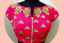 blouse design with zip
