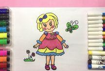 Bé Tập Vẽ - How to draw - SuboTV Thế Giới Cổ Tích Cho bé