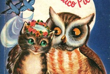 Books with Cats and Owls / A combination of Books, Cats and Owls  Why not.