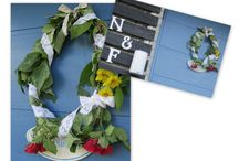 DIY Wreath & Door decor- not X-mas /