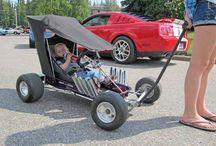 kids pull wagons