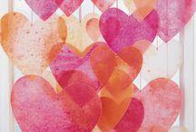 Crayon Wax Window Hearts