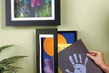 Kids art work displays