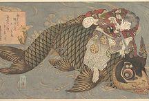 japanese print (woodblocks) designs