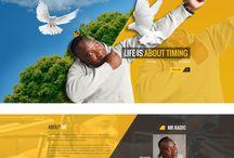 """Thabo """"Mr Radio"""" Mokone / Design Work For Thabo Mokone's Website."""