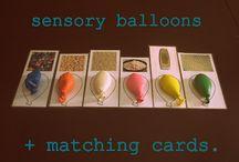 Ateliers montessori / Ballons sensoriels