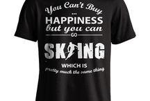 T skjorter og ski