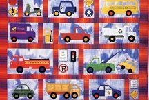 Cars trucks quilts