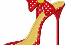 shoe  pattern applique