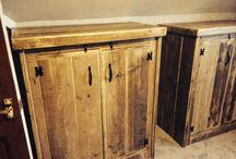 Bedroom wardrobe  / Bespoke handmade from reclaimed timber wardrobes. Made to any size.