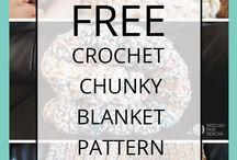 Chunky crochet blanket pattern / Blanket