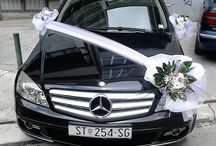 Esküvői autó dísz