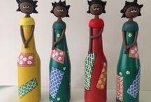 Bonecas de garrafa