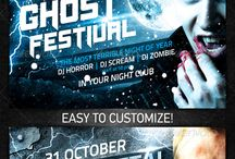 """Halloween Posters & Flyers Collection / This collection will help you to choose the appropriate flyer or poster to advertise holiday """"Halloween"""" and also will be perfect for any event that you are organizing that day in October at your club/bar!  Happy Halloween!"""