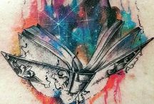 Books tattoos