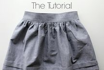 Girls clothes sewing ideas / Some skirt sewing ideas for summer