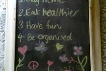 Blackboard for vision board