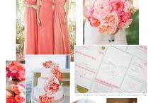 Wedding Colour theme: Coral / Inspiration for your wedding day with coral & gold, a gorgeous combination!