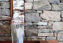 Vattenelement trädgård