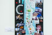 """NEW YORK MAPS FOR SAVE THE GARMENT CENTER / Claudine DeSola of Caravan Stylist Studio asked New York """"creatives,"""" ranging from bloggers, editors, photographers, artists, designers and TV personalities – including Charlotte Ronson, Shoshanna, to name a few – to inventively decorate New York maps with a tailored selection of their top 5 destinations in NYC.  Check out the maps at THE GREGORY HOTEL - February 11th-13th and 15th-17th from 9 a.m. – 6 p.m. This maps will be auctioned off with proceeds going to SAVE THE GARMENT CENTER."""