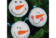 Artigianato in feltro natalizio