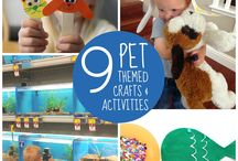 Pet Crafts and Activities for Kids / This board shares our favorite crafts and activities all themed around our favorite pets- cats, dogs, fish, etc.