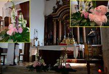 Decoración floral comuniones y bautizos
