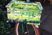 Plastik bike basket