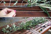 aranjament masa ghirlande frunze