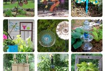 Garden ornaments & Stepping Stones / Decorations for garden / by Lois L