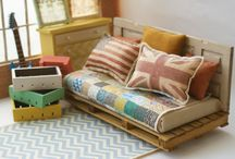 Dollhouse furniture / by Lesley Weidenbener