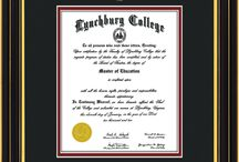 Lynchburg College Diploma Frames & Graduation Gifts! / Official LC Diploma frames. Exquisitely crafted to exacting specifications for the LC diploma. Custom framed using hardwood mouldings and all archival materials, including UV glass to prevent fading from sunlight AND indoor incandescent lighting! Each frame exceeds Library of Congress standards for document preservation and includes a 100% lifetime guarantee, ensuring that a hard-earned achievement will be honored and protected for generations. Makes a thoughtful and unique graduation gift!