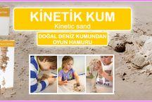 Kinetic Sand (Deniz Kumundan Oyun Hamuru) / Şimdi Türkiye' de! %98 Deniz Kumu  ''Çocuklar için oyuncak, büyükler için eğlence''