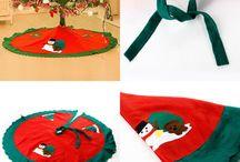 Christmas Tree Decor Felt Home Furniture Xmas Gift Snowman Decoration 90cm Santa