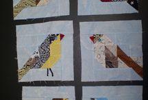 Pássaros patchwork