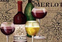 Vinos, botellas, copas