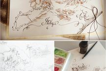 Custom Watercolor Wedding Maps / Custom hand painted maps for weddings and all occasions
