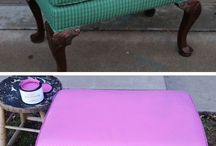 Paint upholstery ideas with old furniture