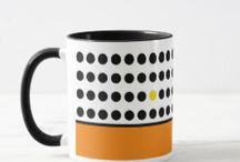 Colorful Coffee Mugs by SimplyMe Designs