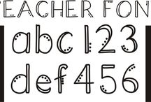 Fonts / by Alicia Coats