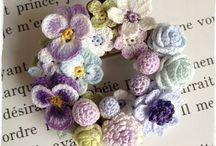 Kwiaty na szydełku