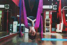 Aerial yoga / Pose in aerial yoga