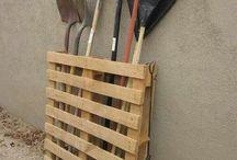 guardar ferramentas de jardim