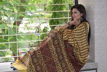 Modal/Gajji Silk Ajrakh Sarees